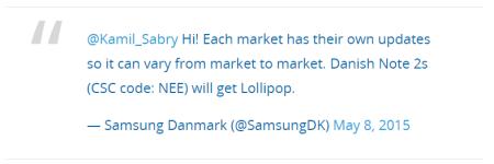 Обновлению Lollipop для Дании быть